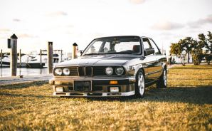 BMW 325is on Grass at a Marina