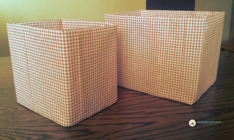 pudełka obszyte materiałem