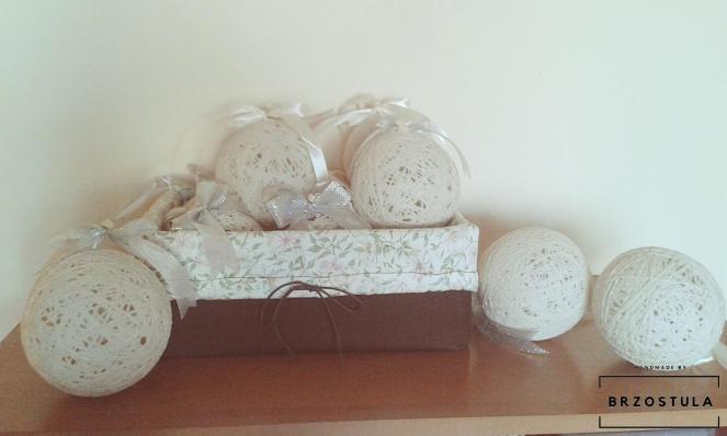 gotowe bombki cotton balls