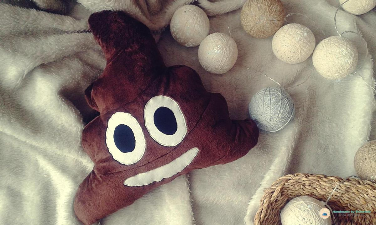 Poop emoji pillow