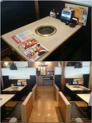 【近代的な店内】テーブルオーダーが出来る「タッチパネル」も配備されている広い店内