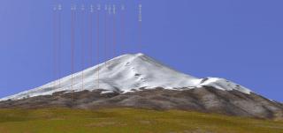 【3D】吉田口(北側なので新幹線と逆側)からの富士山、一味違いますね?