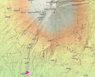 【陰影】ちょっと高価な地図を買えばこういう感じにカラーリングしてあるものもあります。