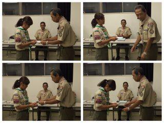 【授与式】隼章は様々な計画と実行、そして面接などを通って授与されます。