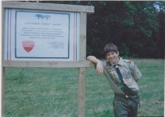 Jeff with Sign