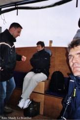 Oliver Schwarz, Lotti Reber und Martin Fradera auf der Boattour.