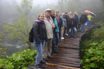 Wegen Regen und Nebels konnten wir leider nicht viel von dern ansonsten spektakulären Wasserfall-Landschaft erkennen.