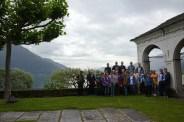 Gruppenbild auf dem Gelände der Kirche Madonna di Ponte
