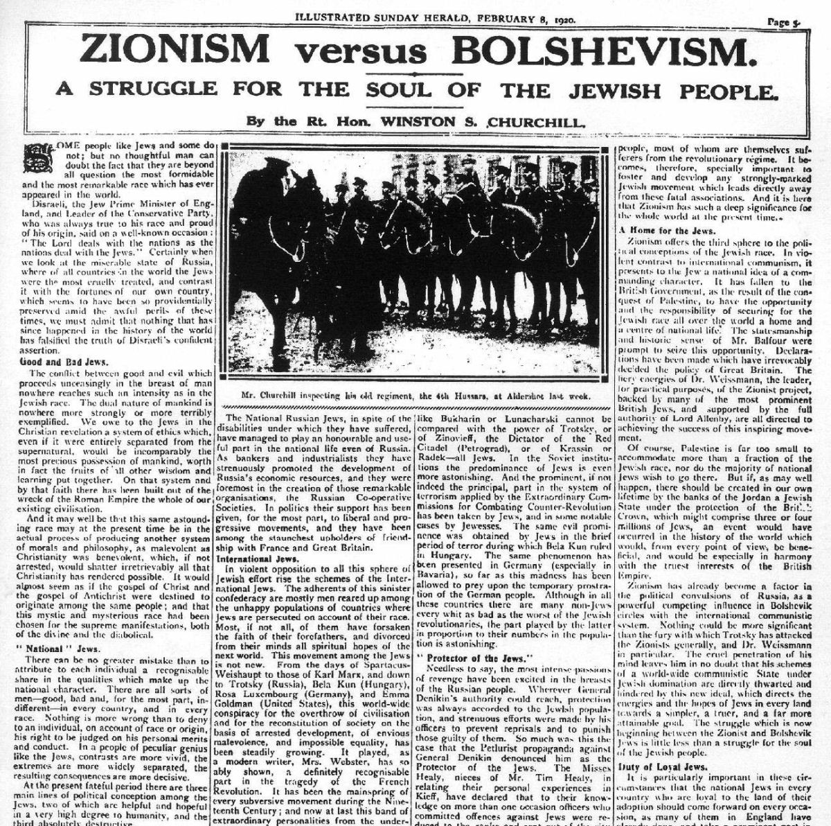 Zionism vs Bolshevism by Winston Churchill