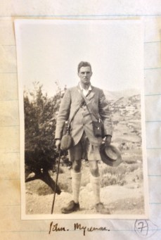 Photograph of John Pendlebury taken during his honeymoon (22 Sep 1928). Reference: PEN 2/2/3/7. Copyright: The British School at Athens