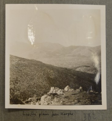 Lasithi Plain from Karphi, Jun 1935 (PEN 7/2/6/382). Copyright: British School at Athens
