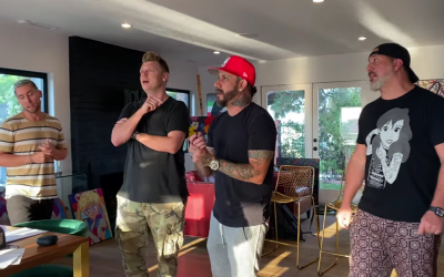 Nick, AJ, Lance Bass and Joey Fatone Rehearsing For Bingo Under The Stars