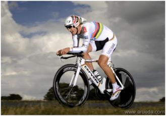 Cervélo P3 de Fabian Cancellara - Campeão Mundial de Contra Relógio de 2008
