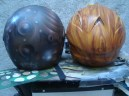 efecto madera y casco con efecto oxido