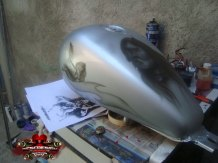 aerografia Tanque moto Indio