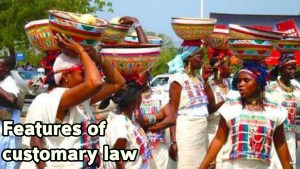Characteristics of customary law
