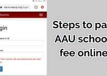 How to pay AAU school fee for 2019, 2020, 2021 academic session