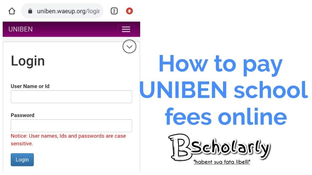 uniben school fees for all courses