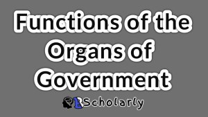 functions of the arms of government