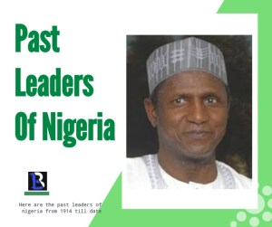 past Leaders of Nigeria From 1914 Till Date