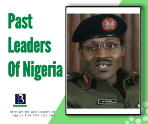 past leaders of nigeria from 1960 till Date