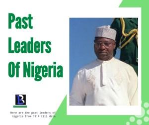 list of Nigerian past leaders