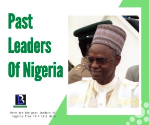 pictures of past Nigerian leaders