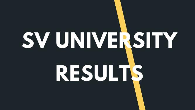 SVU Degree Results 2021