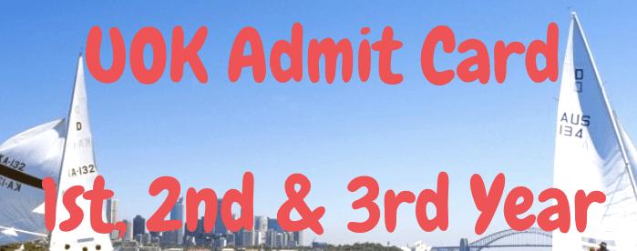 UOK Admit Card 2021