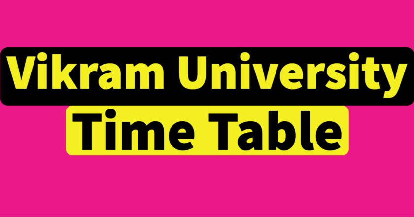 Vikram University Time Table 2021