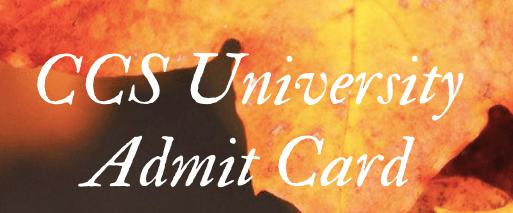 CCS University Admit Card 2021