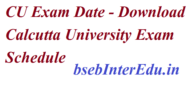 Calcutta University Exam Date 2021