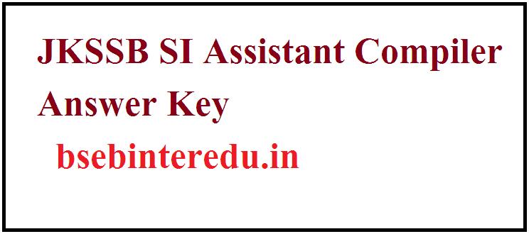 JKSSB Answer Key 2021