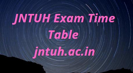 JNTUH Exam Time Table 2021