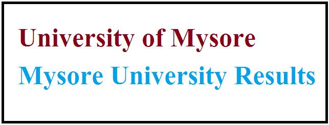 मैसूर विश्वविद्यालय परिणाम 2021