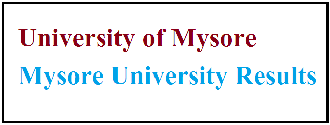 Mysore University Results 2021