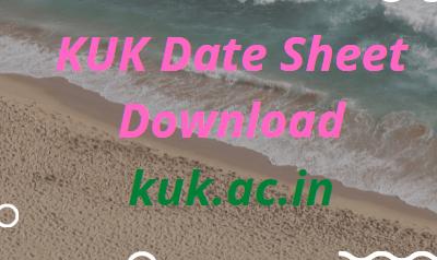 KUK Date Sheet 2021