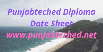 Punjabteched Date Sheet 2021