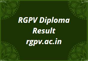 RGPV Diploma Result 2021