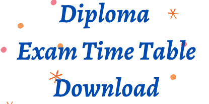 diploma time table 2021
