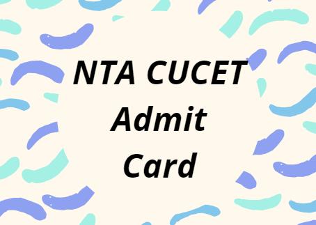 CUCET Admit Card 2021