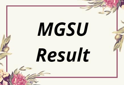 MGSU Result 2021