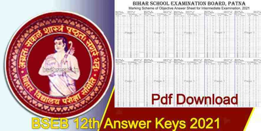BSEB 12th Answer Keys 2021