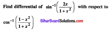 Bihar Board 12th Maths Model Question Paper 5 in English Medium SAQ Q6