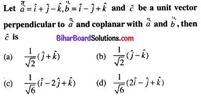 Bihar Board 12th Maths Objective Answers Chapter 10 Vector Algebra Q19