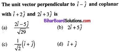 Bihar Board 12th Maths Objective Answers Chapter 10 Vector Algebra Q23