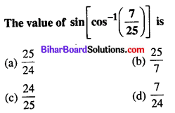 Bihar Board 12th Maths Objective Answers Chapter 2 Inverse Trigonometric Functions Q49