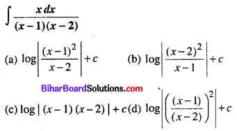 Bihar Board 12th Maths Objective Answers Chapter 7 समाकलन Q42