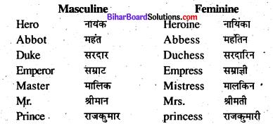 Bihar Board Class 8 English Grammar Gender and Person 4