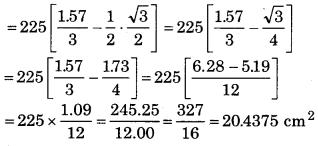 Bihar Board Class 10 Maths Solutions Chapter 12 वृतों से संबंधित क्षेत्रफल Ex 12.2 Q6.1